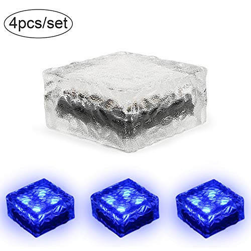 Blue Solar Rock Lights