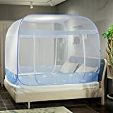 Foldable mosquito-repellent zipper mosquito net, Mongolian Double doors mosquito curtain-A Queen1