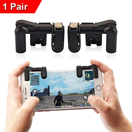 KSANA Newest Version Mobile Game Controller PUBG, Sensitive Shoot Aim Buttons L1R1 Knives Out/PUBG/Rules Survival, Cell Phone Game Controller Android iOS 1 Pair