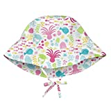 i play. Baby Girls Bucket Sun Protection Hat, White Sea Pals, 0/6mo
