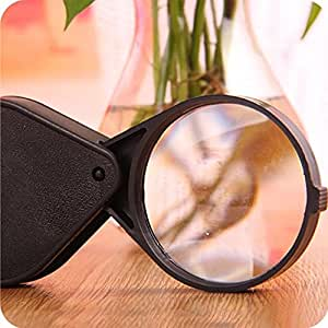 Sanwooden Unbelievable Magnifier Folding 10X Mini Pocket Jewelry Magnifier Reading Magnifying Loupe Glass Lens Magnifier