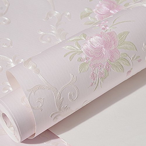 Non-woven Decorative Flower Contact Paper Self Adhesive Luxury Embossed Floral Peel and Stick Wallpaper for Wall Livingroom Bedroom Crafts Wall Decor 20.83 Inches by 9.8 Feet by Glow4u (Image #3)