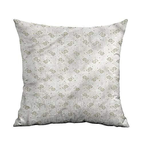 ArrDecor Pillowcases King Size,Beige,Teddy Bears Toys Stars,Throw Pillows for Couch Set,W 18
