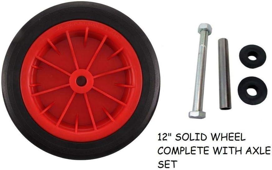 LY Tools Color Rojo Rueda para Carretilla de 30 cm con Eje de 130 mm