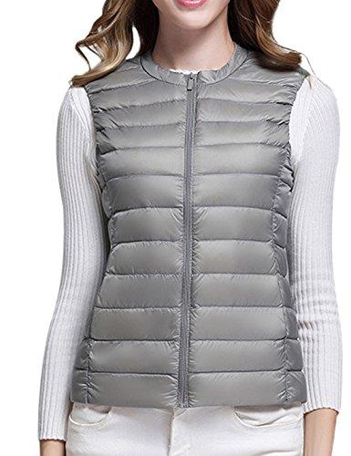 Puffer Grey Vests Lightweight Vest Coat Jacket Packable Naliha Down Ultra Womens Fwq8qUZ1