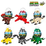 Best Choice Products 12-Piece 6-in-1 Kids Educational Toy Dinosaur Eggs Building Bricks Set w/Velociraptor; Triceratops