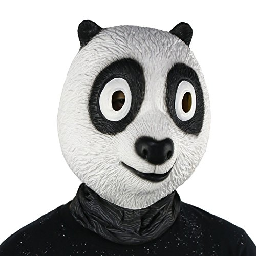 FantasyParty Halloween Mask Costume Party Latex Cute Panda Mask Animal Head Mask