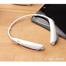 LG TONE PRO HBS-750 Bluetooth 3.0 Premium Wireless Stereo Headset, Headphone (White)