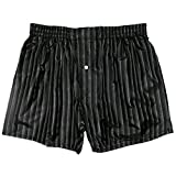 Stripes Noir Silk Boxers by ROYAL SILK - black