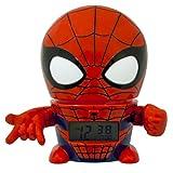 Bulb Botz 2021425 Spider Man Reloj Despertador, 14 cm de Alto, Color Rojo