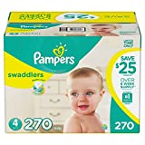 Pampers Swaddlers Diapers, Size 4 (270 ct.)