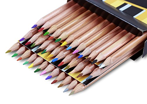 Solabela® 36 Dreieckige Holzfarbstifte, Künstlerset.