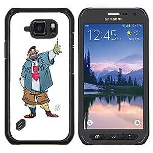 LECELL--Funda protectora / Cubierta / Piel For Samsung Galaxy S6Active Active G890A -- Tío Chico Hombre Penal Caricatura Sonrisa --