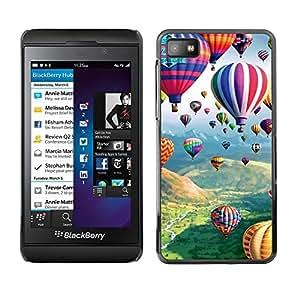 TECHCASE**Cubierta de la caja de protección la piel dura para el ** Blackberry Z10 ** Balloon Hot Air Flying Nature Sky