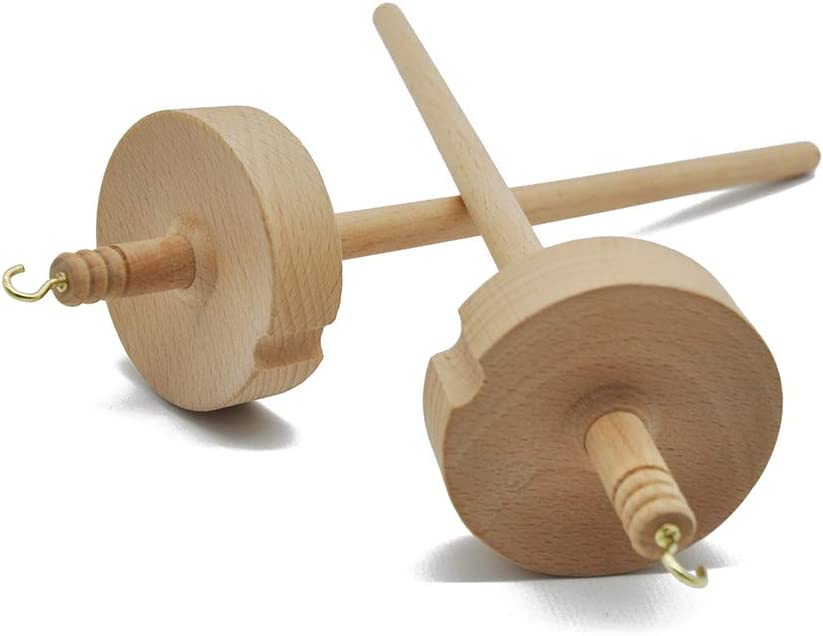 Drop Spindle Spindle Top Whorl Yarn Spin Hand Wooden Sewing Tool Gift for Beginners SONGLIN 1Pcs Wooden Drop Spindle Spinning