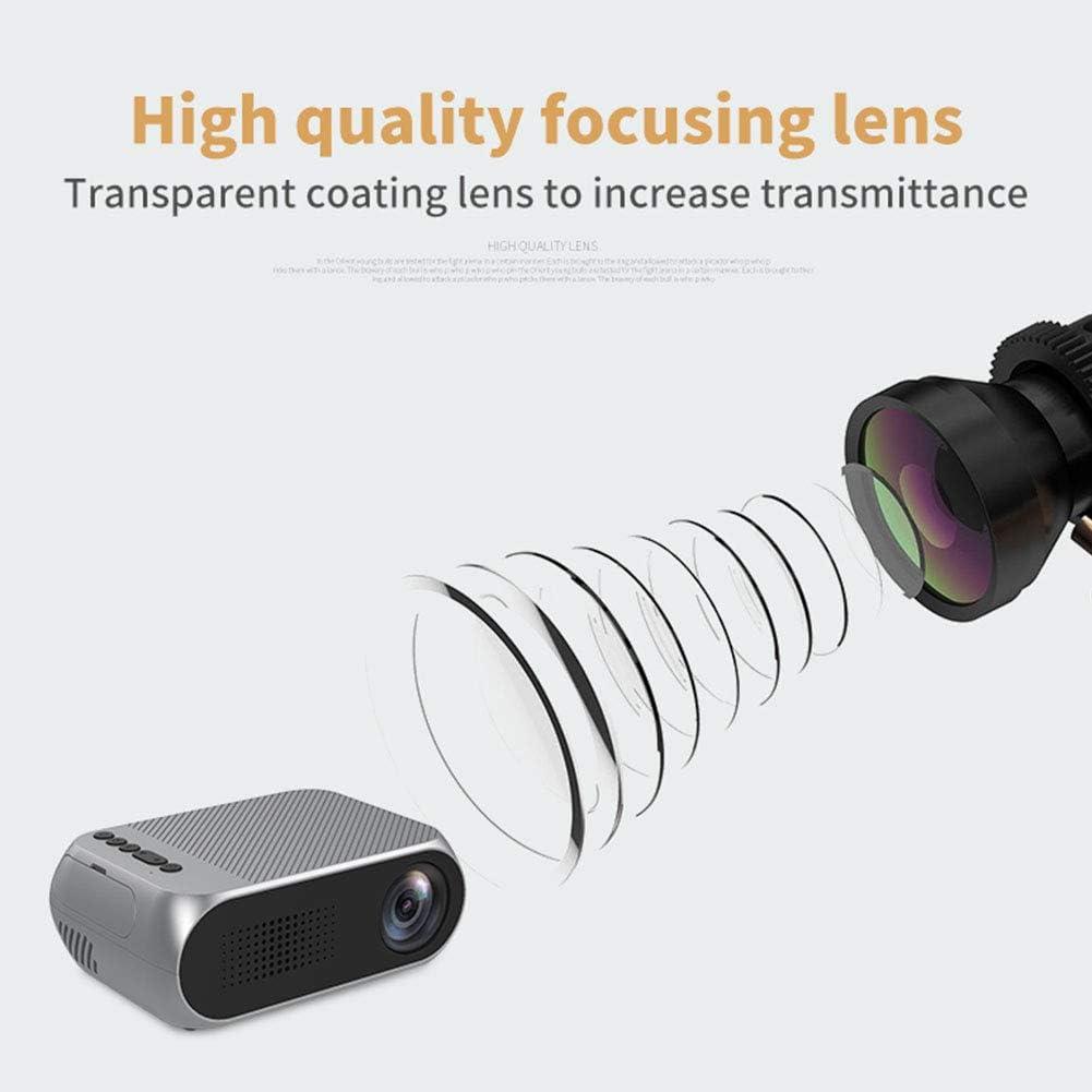 Hihey Mini proyector LED portátil YG320 Mini proyector LED ...