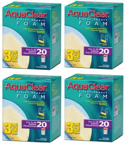 Aquaclear Foam Inserts, 3-Pack (12-Pack, 20-Gallon) ()