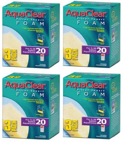 Aquaclear Foam Inserts, 3-Pack (12-Pack, 20-Gallon)