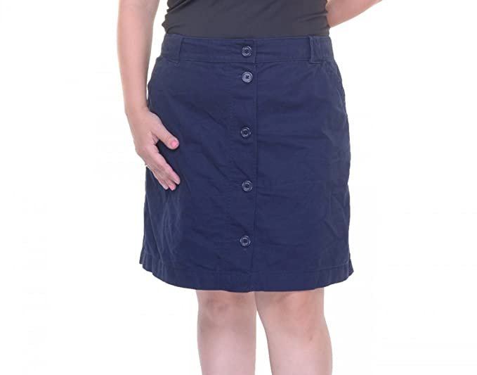 829c23153b Tommy Hilfiger Navy Womens Straight Button Front Skirt Blue 16 at ...