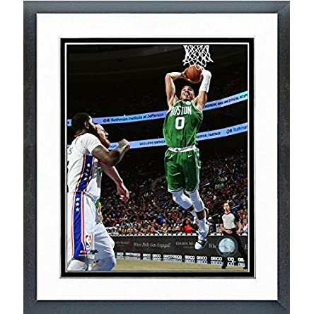 Jayson Tatum Boston Celtics 2018 NBA Action Photo (Size: 26.5″ x 30.5″) Framed