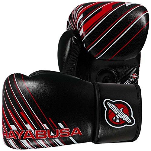 Hayabusa Ikusa Charged Gloves, Black/Red, 10 - Thai Hayabusa Muay Shorts
