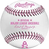 Rawlings Official Breast Cancer Mothers Day Pink Major League MLB Baseball Manfred - Boxed