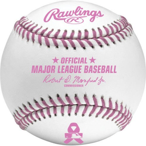 Rawlings Official Breast Cancer Mothers Day Pink Major League MLB Baseball Manfred - Boxed by Rawlings
