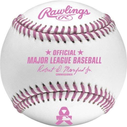Rawlings Official Breast Cancer Mothers Day Pink Major League MLB Baseball Manfred - (Pink Mlb Baseball)