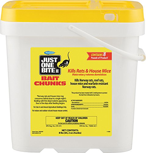 Farnam Just One Bite II Bait Chunks, 8lbs (64, 2 oz chuncks) (Rat Bait Poison)