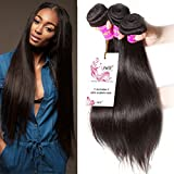 Unice Hair Natural Color 16 18 20inch Brazilian Straight Hair 3 Bundles 100% Unprocessed Brazilian Virgin Human Hair Weave Extensions