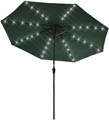 Sundale Outdoor 10 ft Solar Powered 40 LED Lighted Patio Umbrella Table Market Umbrella