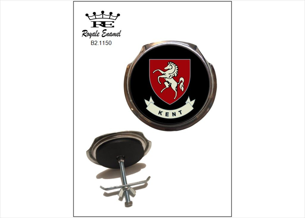 Royale coche parrilla insignia escudo de Condado de Kent B2 ...