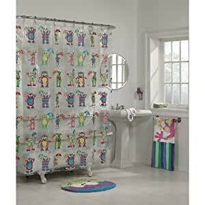Alex Moody Monsters Kids Bathroom Shower Curtain Home Kitchen