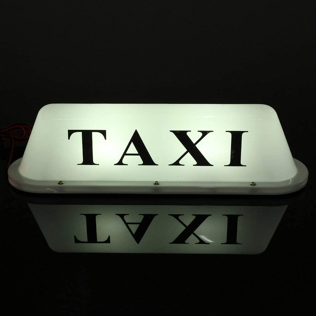 Joycececi 12V Car Truck Taxi Cab Sign Roof Dome LED Light Lamp Shell Magnetic Base