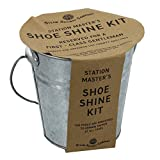 Station Master's Shoe Shine Kit in tin bucket - Steam Railway Co. by Harvey Makin