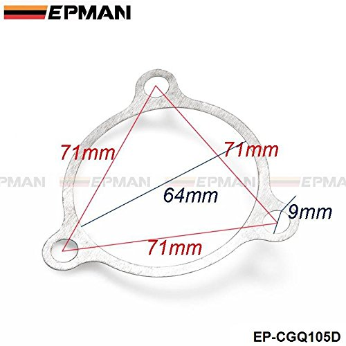 Turbo Exhaust Gasket EPMAN 3 Bolt Hole 2.5' Gasket T3 Discharge Internal Wastegate Gasket EP-CGQ105D