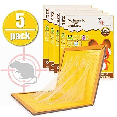 Big Devil Mouse Trap, Mouse Glue Traps, Mouse Glue Boards, Mouse Glue Trap, Mouse Size Glue Traps Sticky Boards(5 Pack)