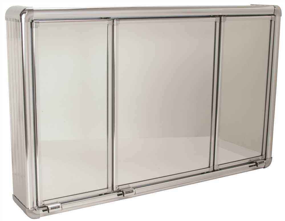National Brand Alternative 592096 Medicine Cabinet Wall Mount, 3 Door, 28-3/4'' x 4'' x 17-3/4'', Plastic, 1'' x 1'' x 1''