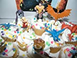 How to Train Your Dragon Set of 12 Figure Cake Toppers / Cupcake Party Favor Decorations with 9 Dragons, Hiccup, Astrid and Some New Charcters!