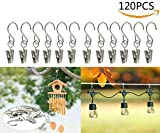 JM-capricorns 120pcs Party Light Hanger,Gutter Hangers for Lights,Curtain Clips Hanging Clamp Hooks Hanger Clips for Curtain Photos String Party Lights Awning Curtain Home Decoration.