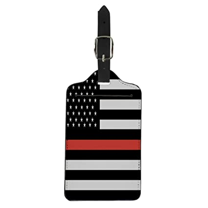 ed807c4d739e Amazon.com | Pinbeam Luggage Tag Blue American Thin Red Line ...
