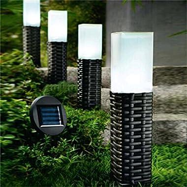 Sogrand Rattan Hand-woven Solar Pathway LED Light, 4 Pack