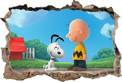The Peanuts Movie Snoopy Charlie Brown Smashed Wall Decal Wall Sticker Art H492, Mini