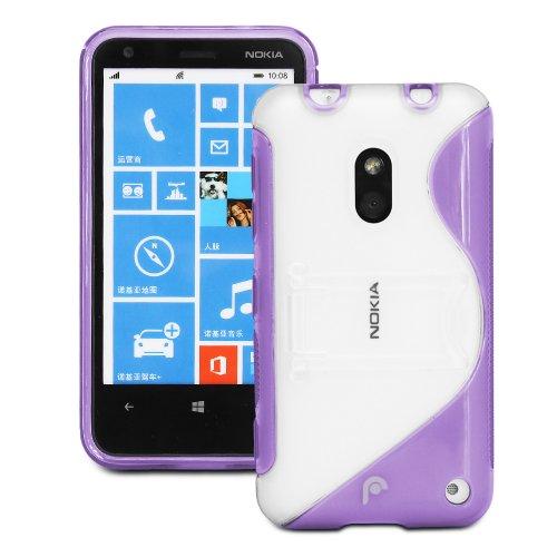 Fosmon HYBO-SK Dual Layer Hybrid Kickstand Case Cover for Nokia Lumia 620 (Purple)