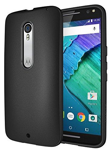 Moto X Pure Case, Diztronic Full Matte Slim-Fit Flexible TPU Case for Motorola Moto X Pure Edition & Moto X Style (2015) - Black - (MPR-FM-BLK) (Custom Phone Case Moto X compare prices)