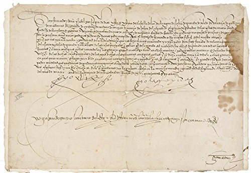 King Ferdinand V (Spain) - Manuscript Document Signed 5/28/1501 with co-signers