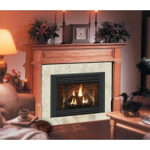 Claremont Flush Fireplace Mantel in Light Golden Oak by Hearth and Home Mantels