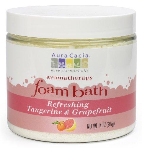 Aura Cacia aromathérapie bain moussant, rafraîchissant mandarine et pamplemousse, 14 onces jar (Pack de 2)
