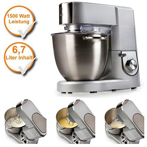 Robot de cocina con XL Cuenco de acero inoxidable, 6,7liter ...