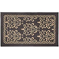 Jean Pierre Bayonne 20 x 34 in. Loop Accent Rug, Dark Grey/Linen